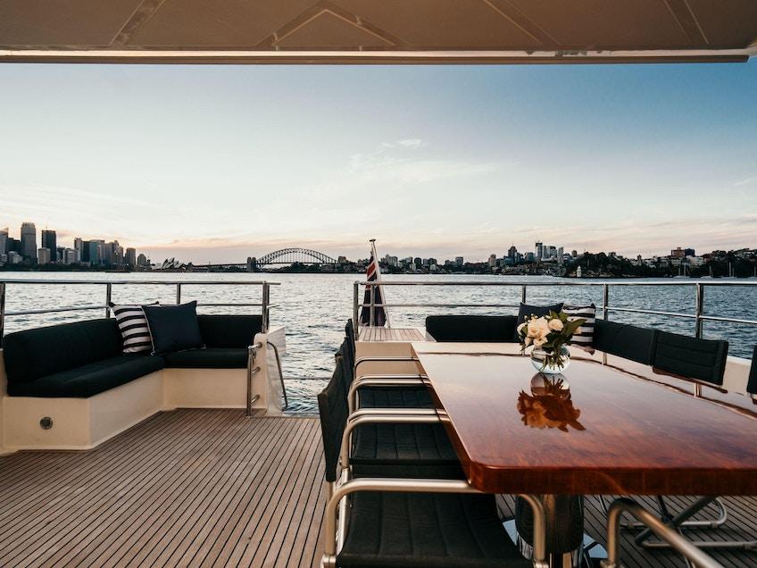 Sydney Harbour luxury boat Element