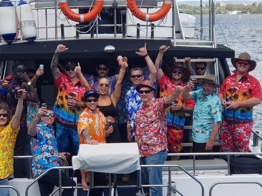 Party boat hire Perth on West End
