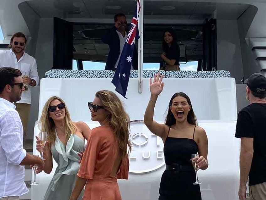 YOT Blue Gold Coast party boat hire for New Year's Eve