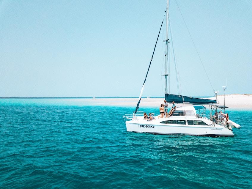 Fraser Island boat hire Indigo at Pelican Bank