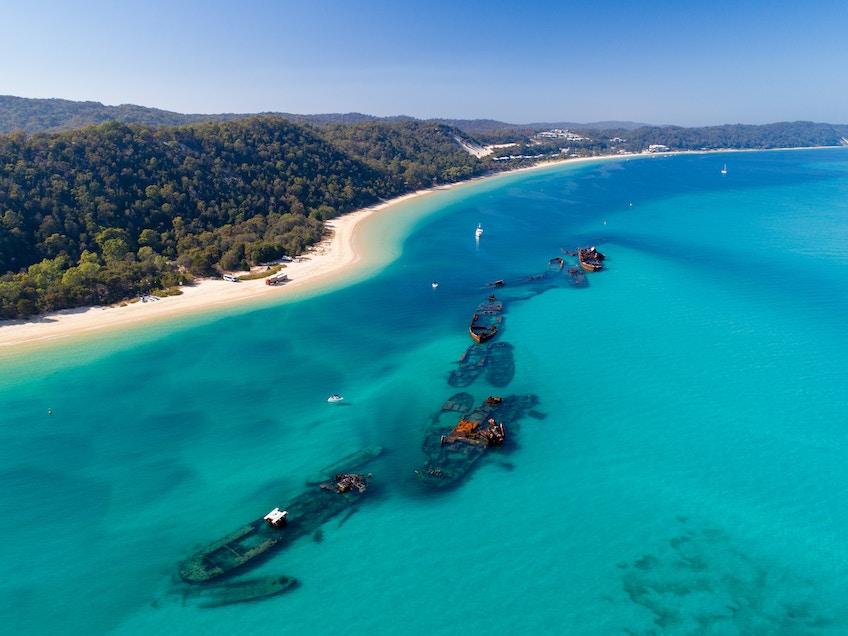 Tangalooma Wrecks on Moreton Island