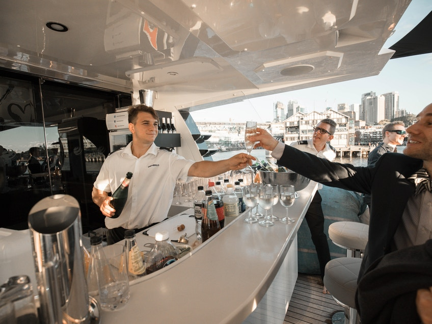Sydney luxury boat hire One World business event