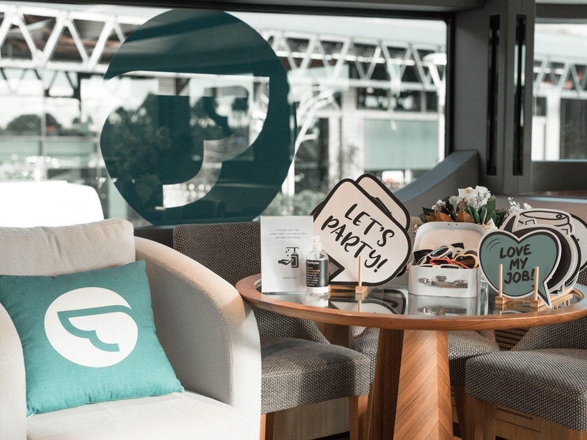 Decorations on One World, Sydney Harbour luxury boat hire for events