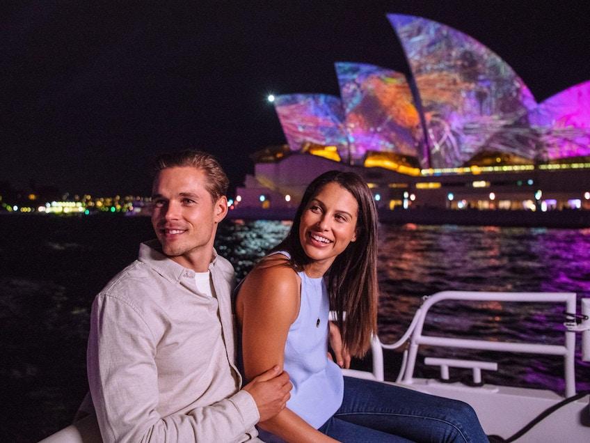 Vivid Sydney 2021 cruise with couple