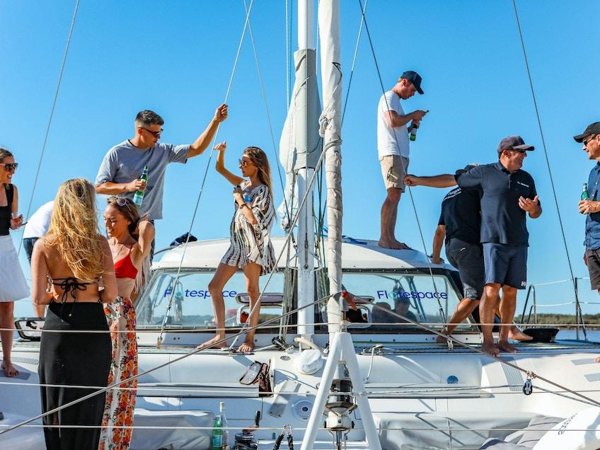 People on Gold Coast boat Serrano