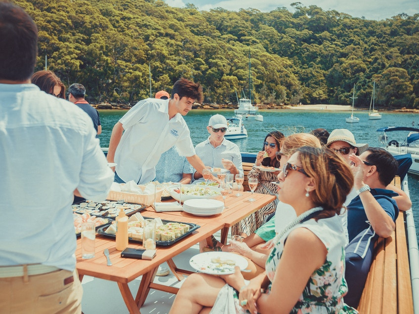 Business event boat hire Sydney
